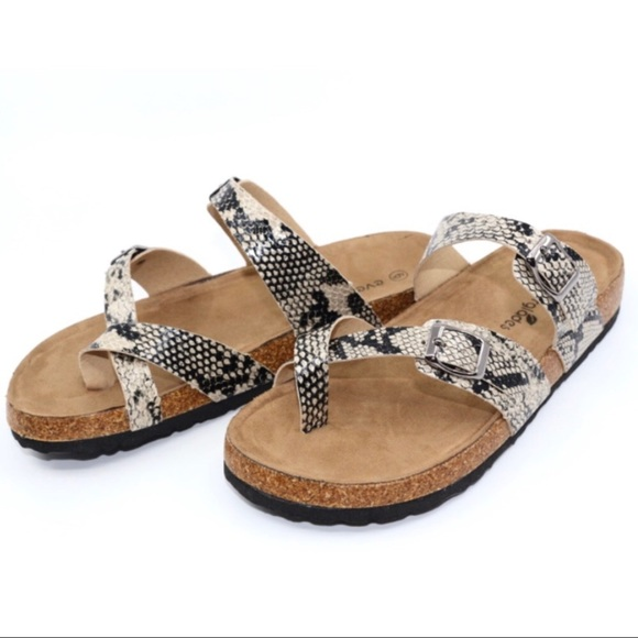 Awesome size 6 Birkenstock style Snake </p>                     </div>                     <!--bof Product URL -->                                         <!--eof Product URL -->                     <!--bof Quantity Discounts table -->                                         <!--eof Quantity Discounts table -->                 </div>                             </div>         </div>     </div>              </form>  <div style=